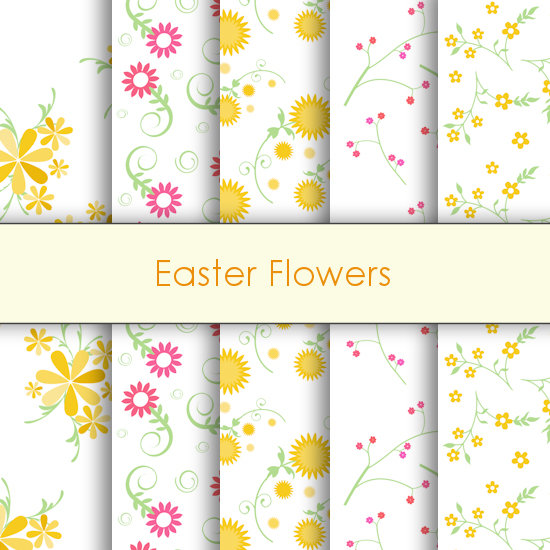 Easter Flower Deco Papers
