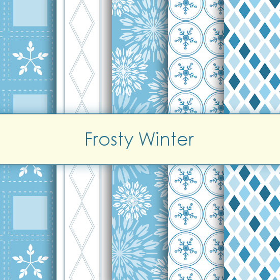 Frosty winter Deco Papers