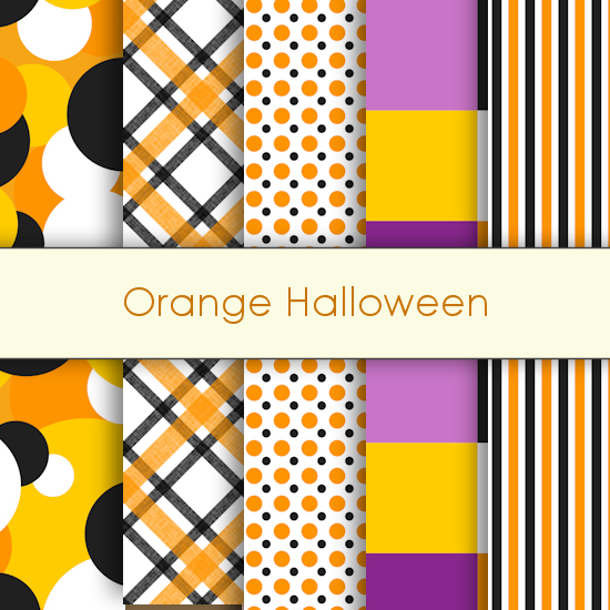 Orange Halloween Deco Papers