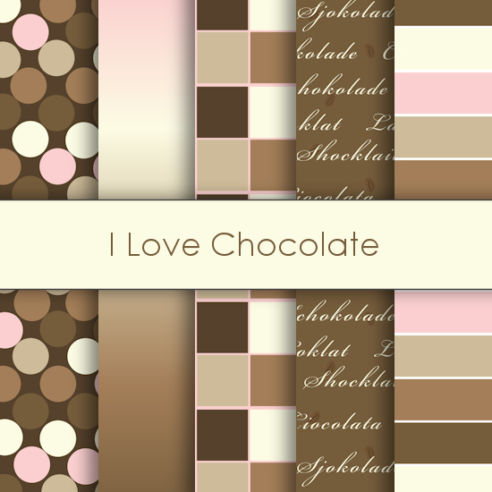 I Love Chocolate Deco Papers