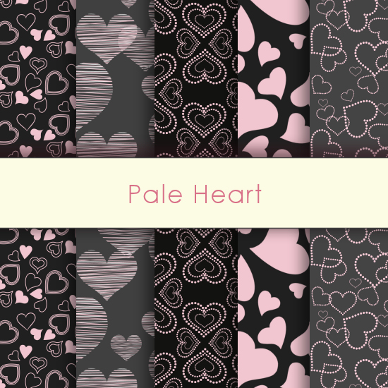 Pale Heart Deco Papers