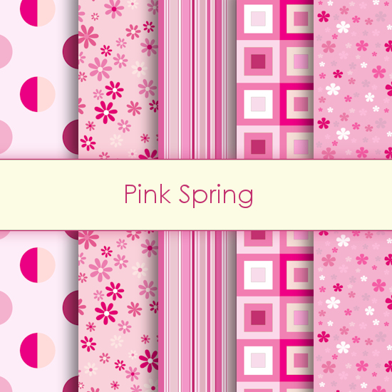Pink Spring Deco Papers