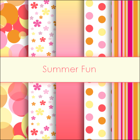 Summer Fun Deco Papers