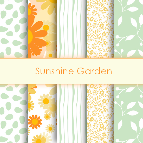 Sunshine Gardening Deco Papers