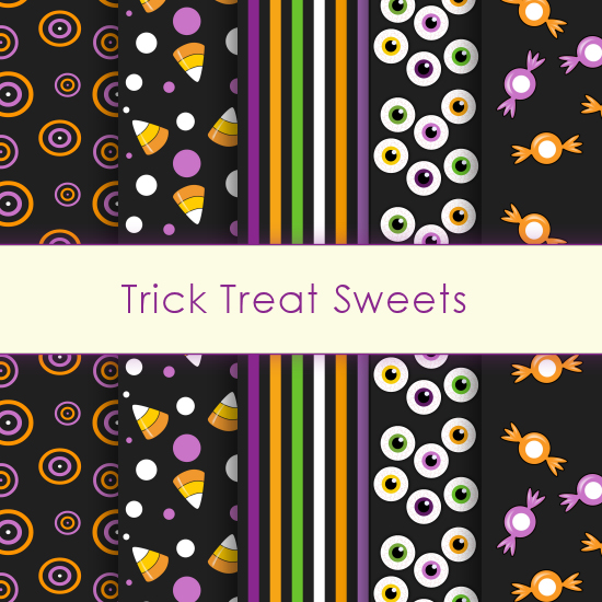 Trick Treat Sweets Deco Papers